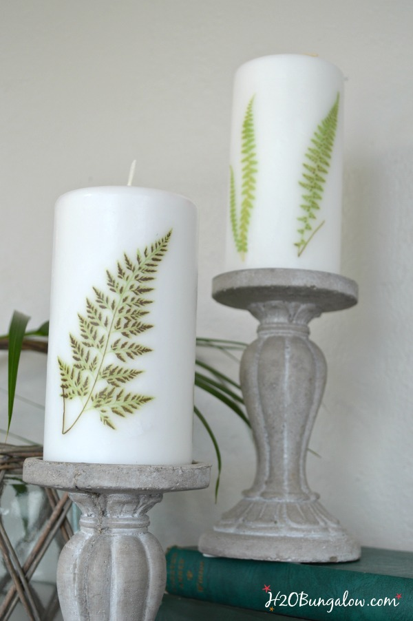 Add images to candles easily using only a few supplies. H2OBungalow