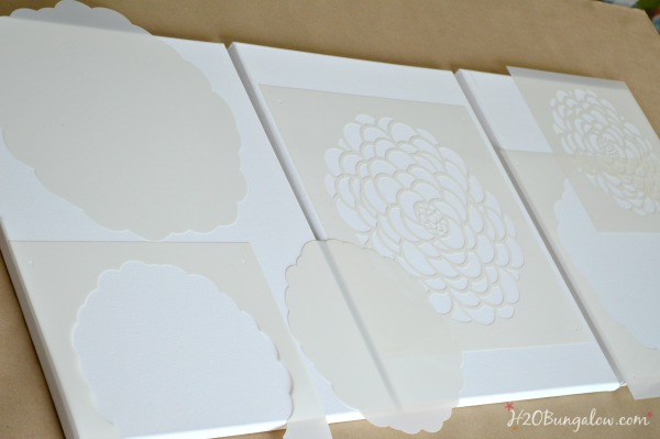 Tryptic-Wall-Art-with-stencils-H2OBungalow