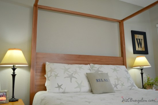 Queen size DIY four poster bed by H2OBungalow