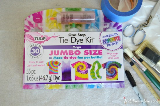 Jumbo Size Tie Dye Kit by Tulip was used for this Painted Tie Dye Mermaid Beach Towel by H2OBungalow