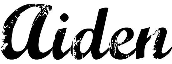 Font for DIY wood cutout name H2OBungalow