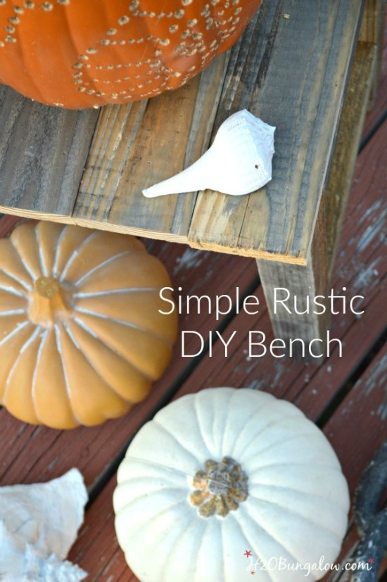 Make a simple DIY wood bench or table. This is a great beginner build project. Linked to the Power Tool Challenge Team and several other simple DIY tool projects for this months Frightful Theme www.H2OBungalow #PowerToolChallengeTeam