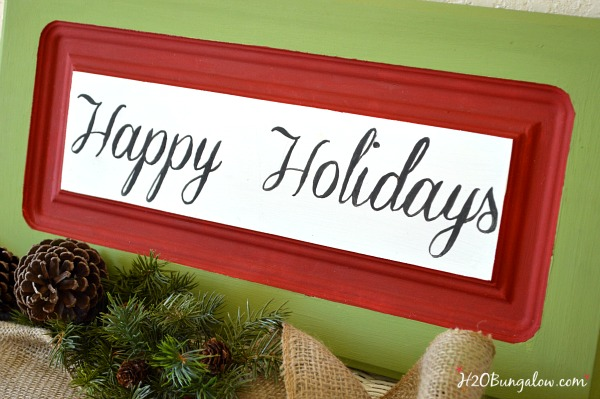 Holiday-upcycled-cabinet-door-sign-H2OBungalow