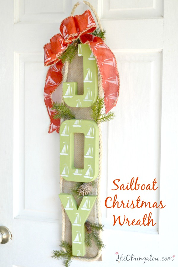 Nautical Sailboat Christmas Wreath H20bungalow