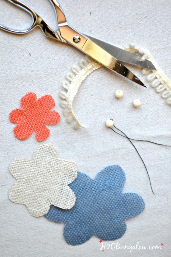 how to make burlap flowers easy