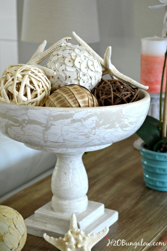 Old salad bowl and bed spindle upcycled into a home decor pedestal bowl plus 14 more clever ways to repurpose and upcycle old stuff. DIY project ideas to inspire you to create new uses for old items into pretty and functional home decor.