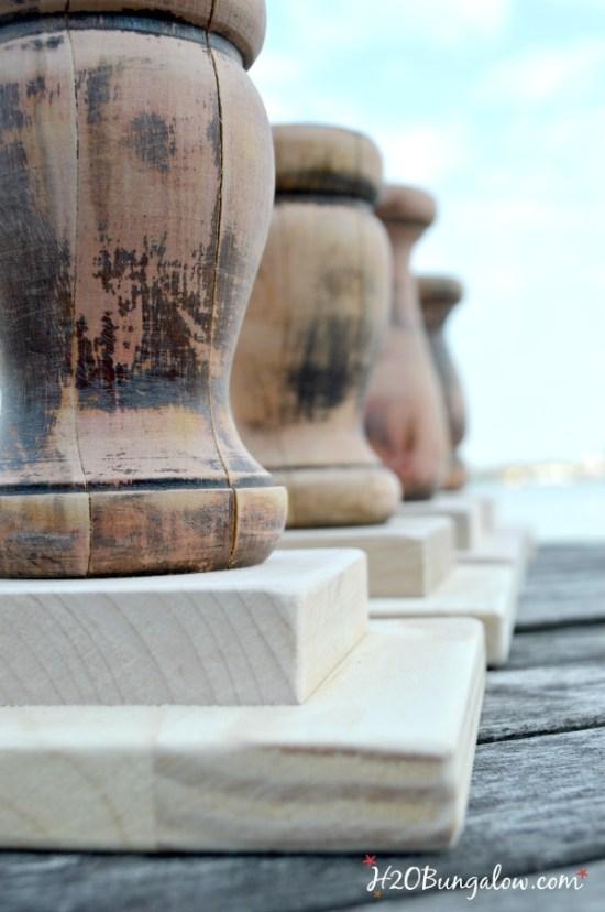 Pedestal bases for DIY wood pedestal bowls H2OBungalow