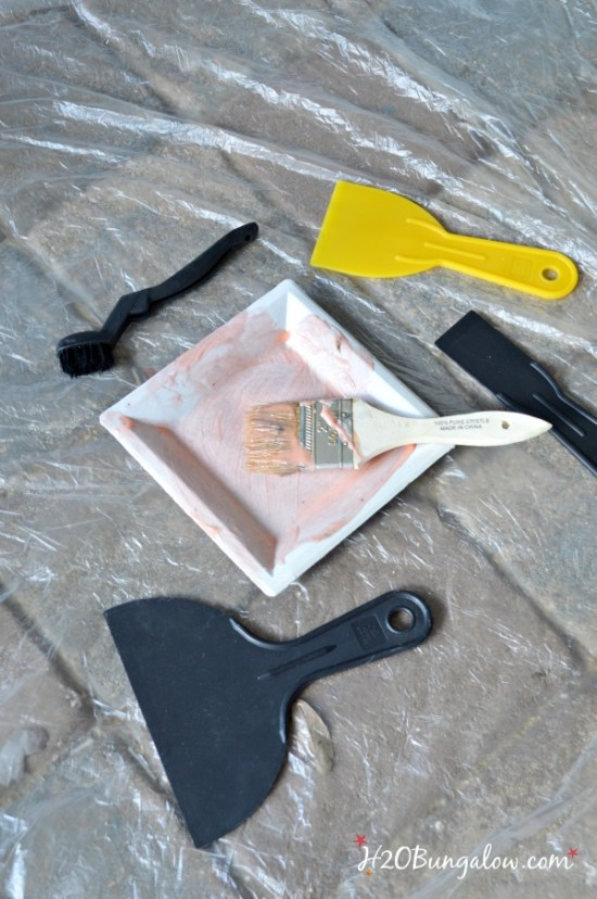tools to strip paint for aged chippy finish