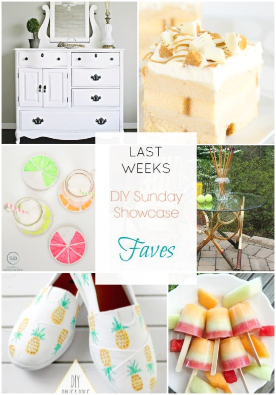 DIY Sunday Showcase features of the week. Stop by to see this weeks talented features and lots more at H2OBungalow