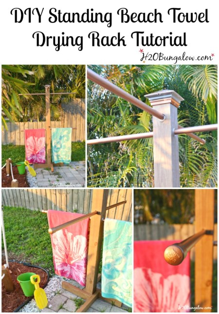 Diy Outdoor Standing Towel Rack H20bungalow