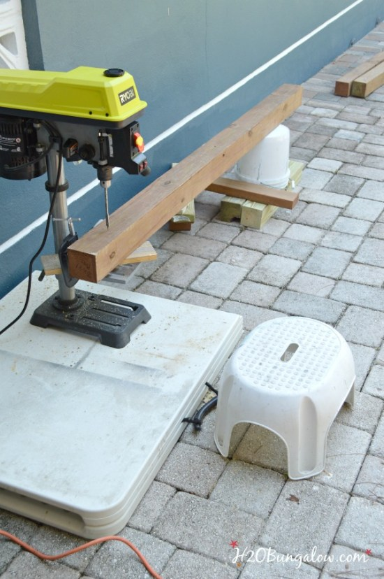 drilling-holes-for-DIY-hammock-H2OBungalow