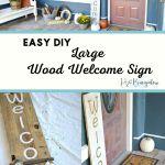 Indoor Outdoor Large Diy Wood Welcome Sign H2obungalow