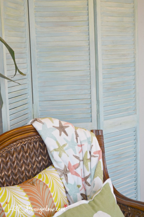 Repurposed bifold doors into room divider plus 14 more clever ways to repurpose and upcycle old stuff. DIY project ideas to inspire you to create new uses for old items into pretty and functional home decor.