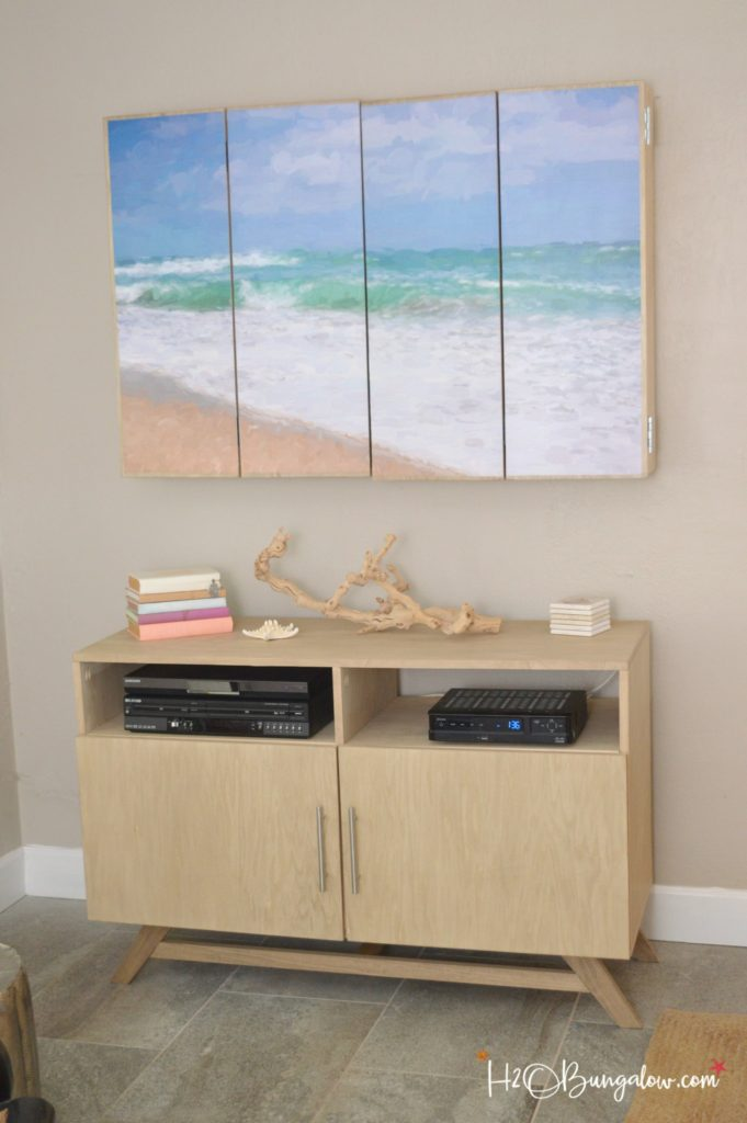 DIY Media Console With Free Plans H20Bungalow