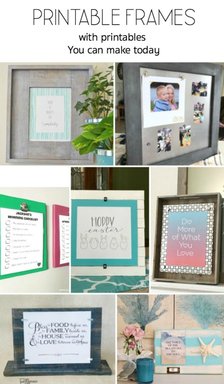 Get all of these great printables and the tutorials to make the creative photo and printable display frames too. #powertoolchallengeteam #printables