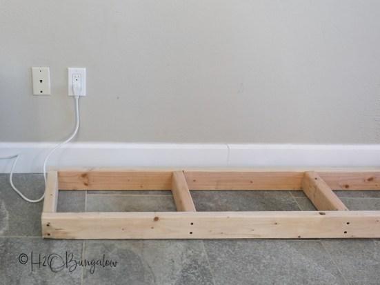 DIY fireplace base frame