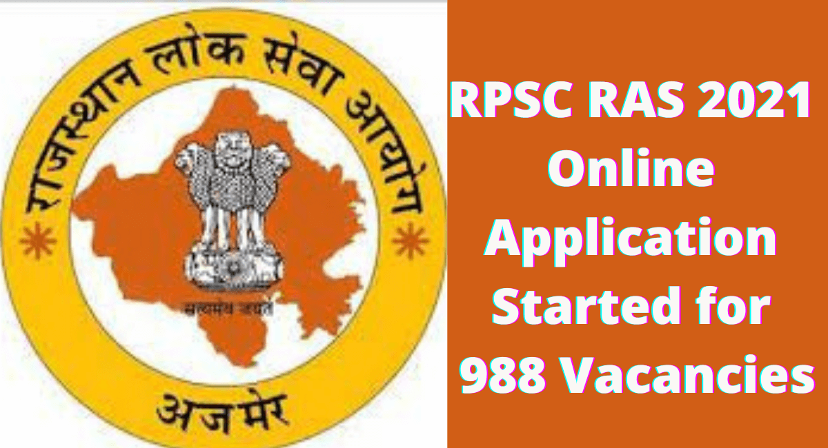 RPSC RAS 2021 Online Application Started