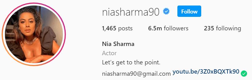 Nia Sharma net worth