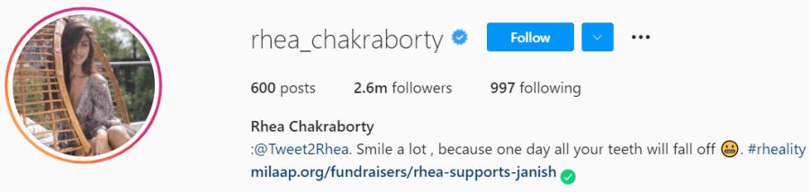 Biography of Rhea Chakraborty