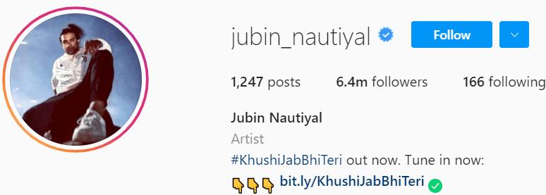 Biography of Jubin Nautiyal