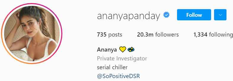 Biography of Ananya Pandey