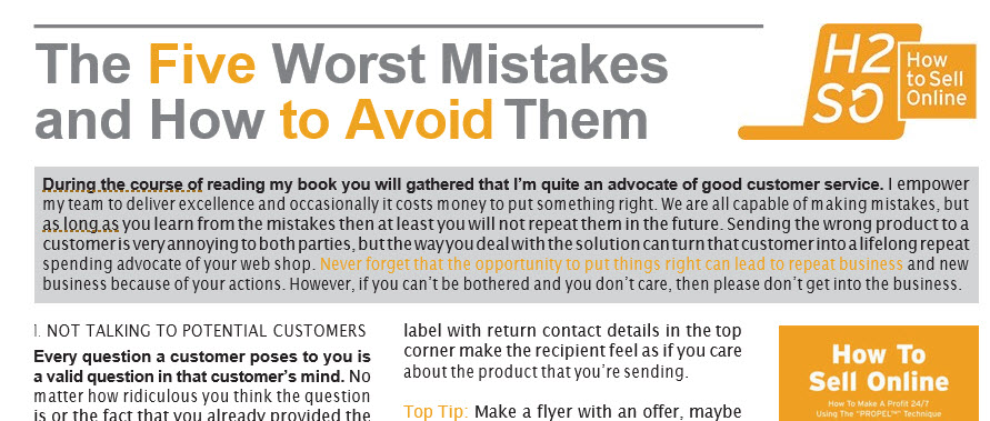 5 Worst Online Seller Mistakes & How To Avoid Them