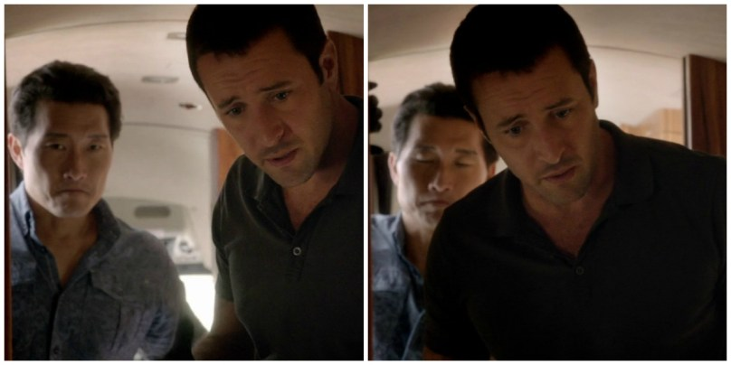 Chin's totally photobombing McG with his face.
