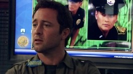 16. McGarrett being photobombed by Wo Fat
