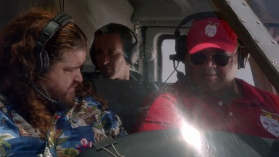 So weird to see McG sitting in the back seat of the chopper. Who will save them if they have to crash land? I certainly wouldn't be in a flying object with Jorge. #justsayin