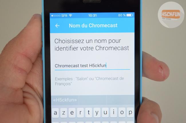 Nommer la Chromecast