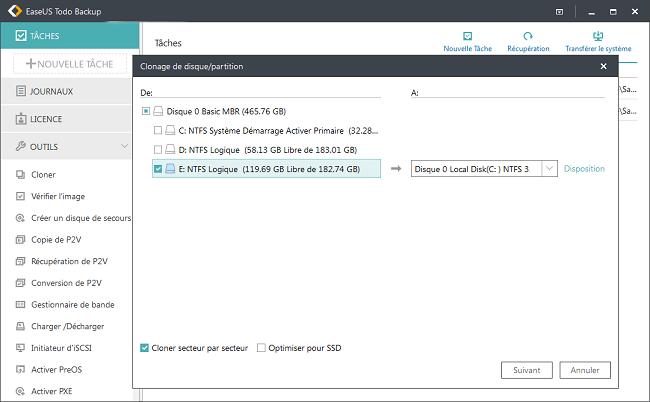 sauvegarder windows 10 cle usb