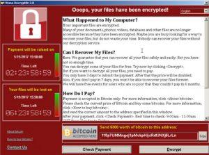 Un screenshot du logiciel demandant le paiement