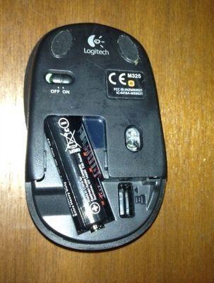 Insérer piles souris sans fil
