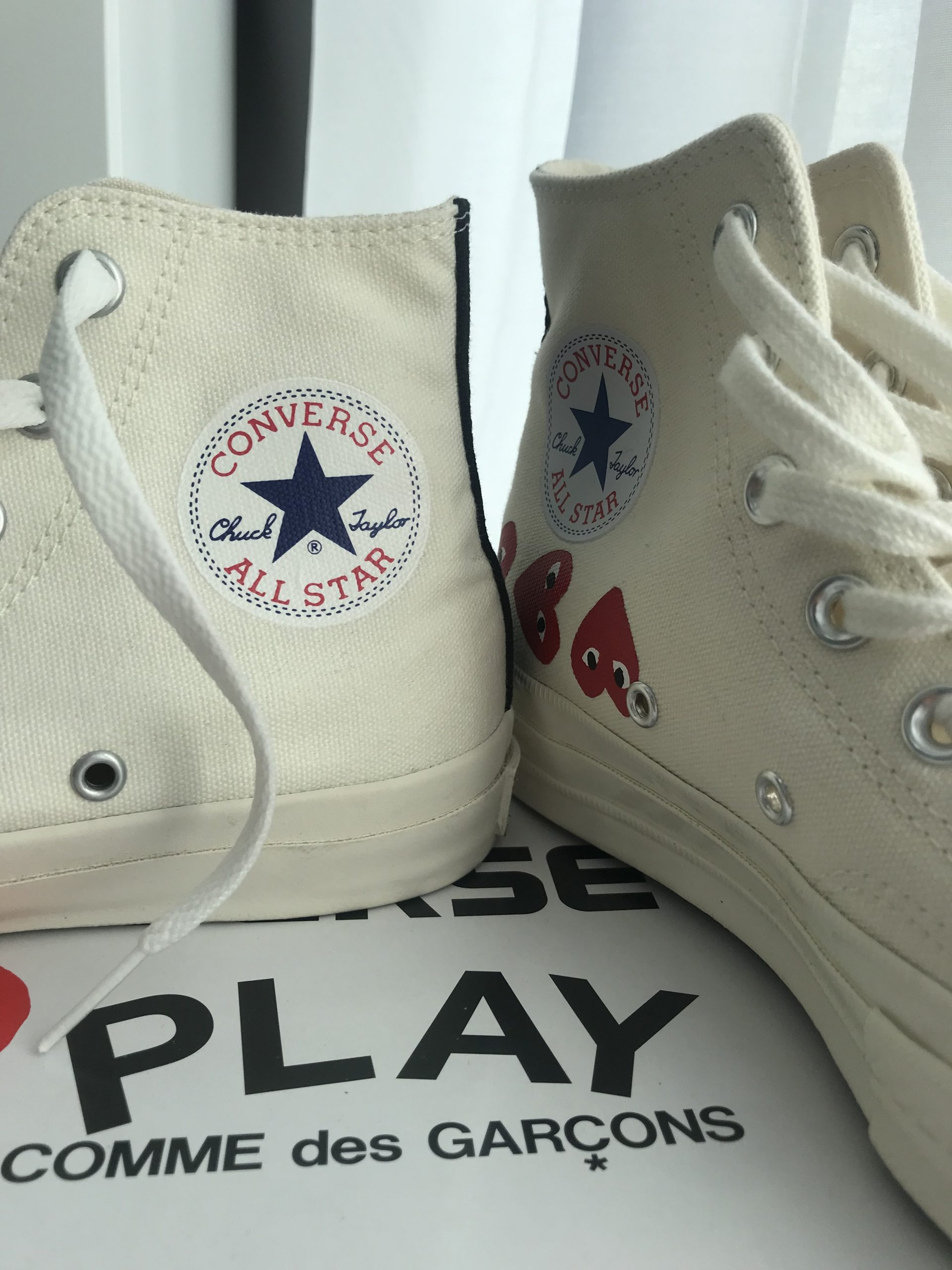 The Japanese CDG Play Converse vs. the