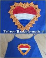 Haakpatroon Koningsdag Hart