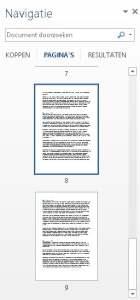 Navigatievenster (pagina's)
