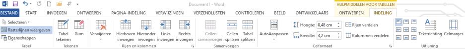 Tabel (hulpmiddelen voor tabellen)