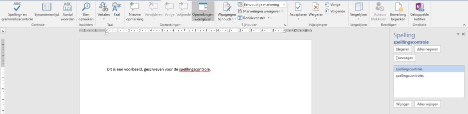 Spellingscontrole (nieuwe versie)