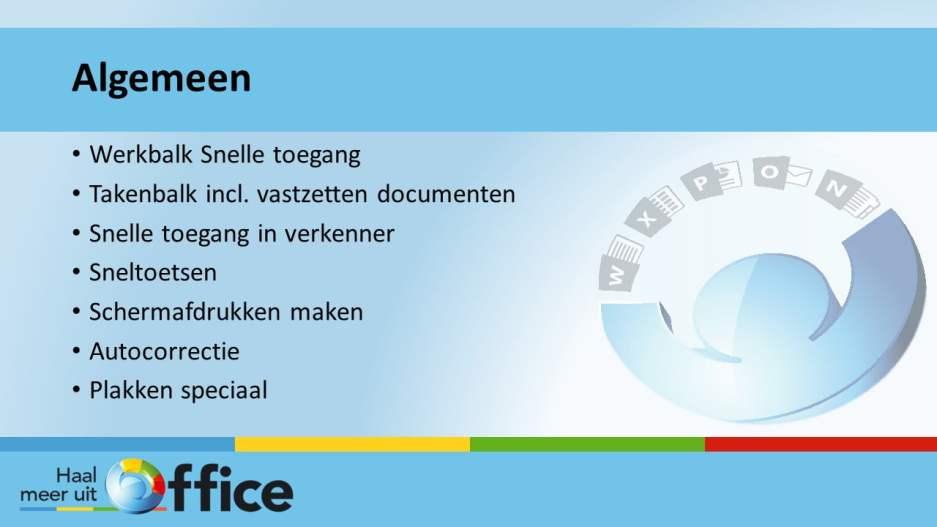 1-op-1-traject Haal meer uit Office - Algemeen