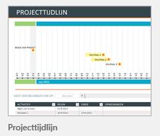 Sjabloon projecttijdlijn