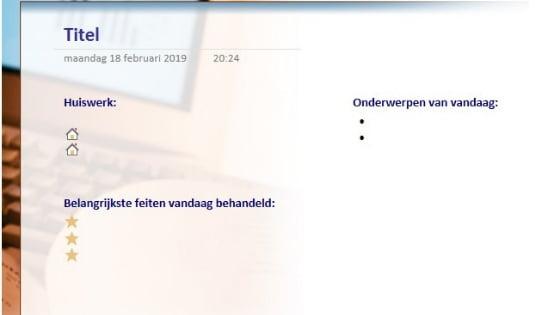 Collegenotitie in OneNote_Haal meer uit Office