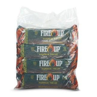 Fire-Up paraffine haardblok (tasje 4 st a 1 kg) - haardhouttoppers.nl