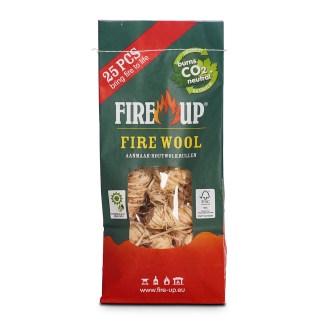 Fire-Up aanmaakhoutwol (zak a 25 st) - haardhouttoppers.nl