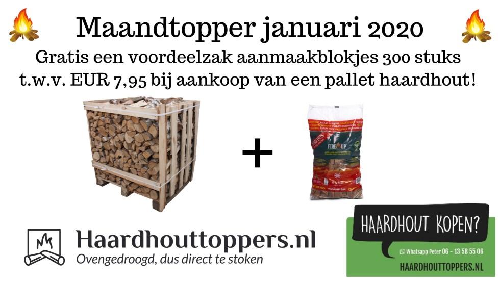 Maandtopper januari 2020 - Haardhouttoppers.nl