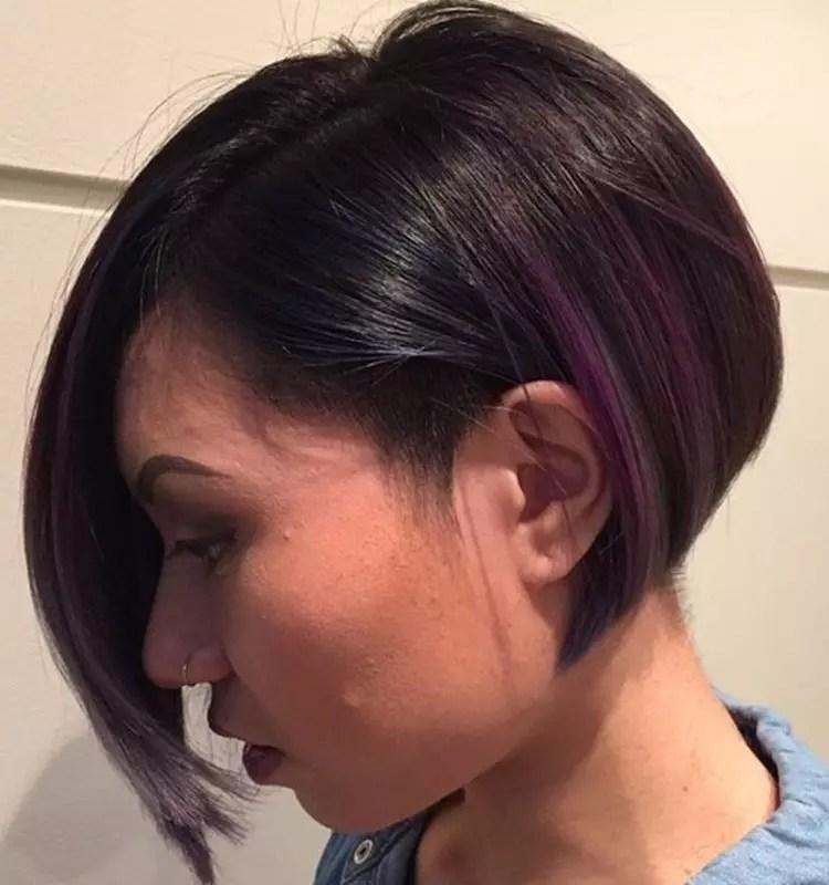 Asymmetrische Frisuren