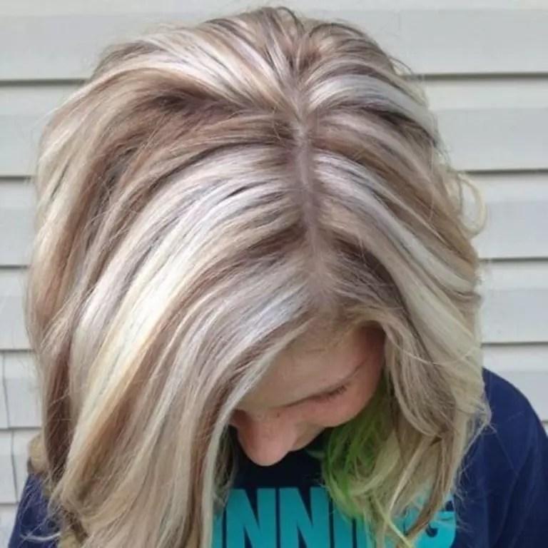 16 Reverse Blonde Haare Mit Braunen Strhnen