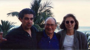 Chema Prado (director de la Filmoteca Española), Alfredo Guevara y Clare People