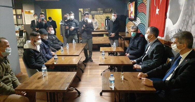 İstanbul Valisi Yerlikaya ve İçişleri Bakan Yardımcısı İnce, evsiz vatandaşları ziyaret etti