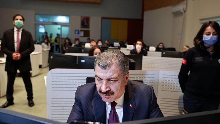 Bakanı Koca, 112 Avrupa Komuta Merkezinden sağlık çalışanlarına seslendi