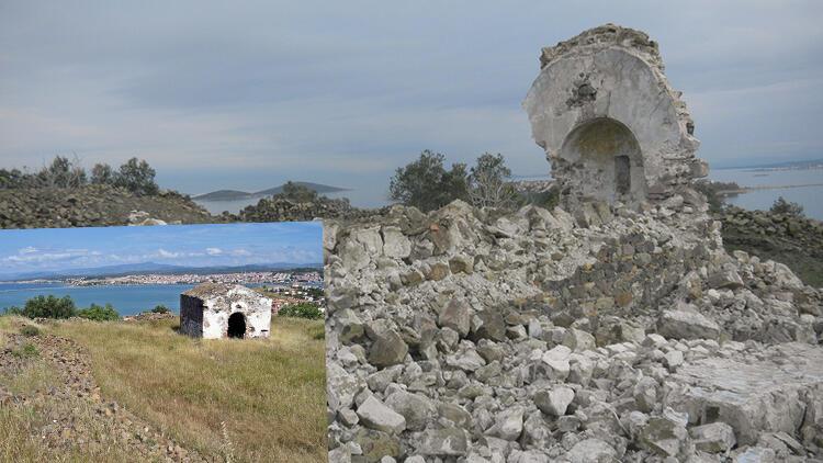 Balıkesir'de 250 yıllık manastır şapeli defineci kazıları nedeniyle yıkıldı